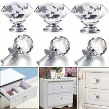 4/8P 20~40mm Crystal Diamond Glass Pull Handle Drawer Cupboard Cabinet Door Knob