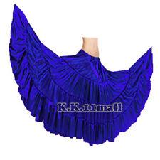 Royal Blue Satin 4 Tiered Skirt 25 Yard Bottom Circumeference ATS Fusion ATS S4