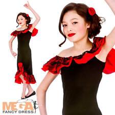 Espagnol senorita filles national déguisement enfant flamenco dancer kids costume