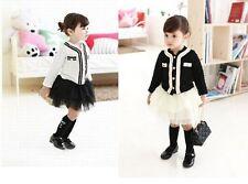 Toddler Girls Designer Inspired Clothing SET *Jacket +Tutu Skirt* Size 5/6