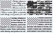 "14""x 24"" The Pledge of Allegiance American Flag Decal car truck window sticker"