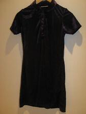 Dress Code Ladies dark purple shift dress in size 10, cap sleeve, polyester