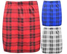NUOVO da donna motivo scozzese STRETCH ELASTICIZZATO DAVIDE corto minigonna