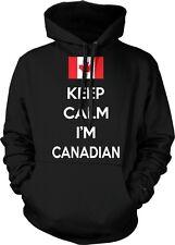 Keep Calm Im Canadian Pride Canada Canadien Maple Leaf Flag Hoodie Pullover