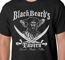BLACK BEARD'S TAVERN T-SHIRT Tee PIRATE BAR Drink Pillage Plunder Drinking Bad