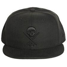 Sullen Men's NE Eternal Fitted Hat Black Headwear Baseball Cap Clothing Appare
