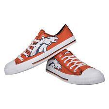 Denver Broncos NFL Men's Low Top Logo Canvas Shoes FREE SHIP
