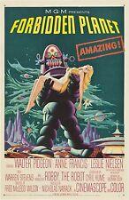 Forbidden Planet 1956 Retro  Movie Poster A0-A1-A2-A3-A4-A5-A6-MAXI 283