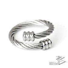 Anello acciaio inox Statement Anello in acciaio getwistet flessibile argento