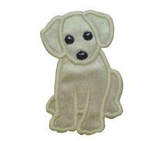 1 x Sew 'n' Iron On Patch Motif Labrador Puppy Dog