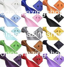 Soie tissée fait à la main cravate boutons de manchette et mouchoir ensemble cadeau hanky fête de mariage