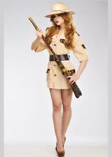 Disfraz Adulto De Mujer Dama explorador de safari No Incluye Sombrero
