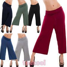 Pantaloni donna cropped pants cavallo basso leggeri larghi casual nuovi AS-1742