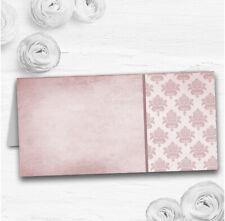 Vintage Damask Initials Blush Pink Wedding Table Seating Name Place Cards