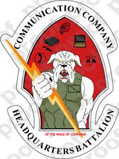 STICKER USMC HQBN COMMUNICATION CO