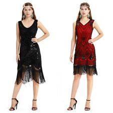 Ladies 20s 1920s Roaring Flapper Costume Sequin Gatsby 20's Fancy Dress Woman