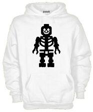 Felpa Cappuccio KJ897 Lego Skull Maglietta Regalo Funny Cotone