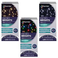 Navidad Luces- 100 Micro Brillo Batería Temporizador Led Color / Outdoor- a