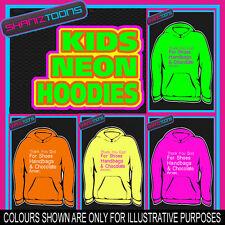 Chaussures Sacs à main & chocolat slogan néon électrique enfants childs Sweat à capuche sweat à capuche