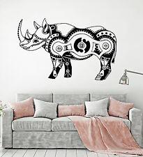 Vinyl Wall Decal Mechanical Rhinoceros Steampunk Rhino Animal Stickers (ig4883)