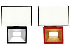 diseño Lámpara Mesa Luz Laqueado Rojo Oro Negro Plata Lámpara