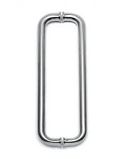 Türgriff Edelstahl-Design, zweiseitig, Ø 25,0 mm für Glas 6-12 mm