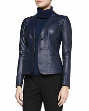 NOORA New Ladies Womens Lambskin Leather Blazer Jacket Stylish Button Coat QD221