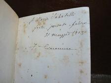 GIACOMUCCI FRANCESCO : VELI- NAPOLI 1898 Dedica Autore Magistrato Vasto Poesia