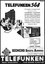 TELEFUNKEN 568 SIEMENS FILM SONORO KLANG FILM 1937