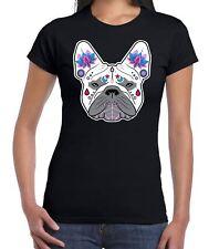 French Bulldog Sugar Skull Women's T-Shirt