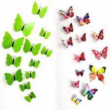 3D Schmetterling Wandtattoo Wandsticker Selbstklebend Magnetisch Realistisch 12x