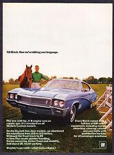 "1968 Buick Skylark 2-door Coupe photo ""No We're Talking"" promo print ad"
