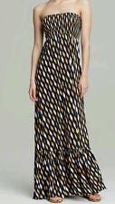NEW! Michael Kors Strapless Printed Maxi Dress Vintage Yellow Size Medium, Large