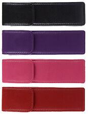 Double / Twin Cuero Pluma caso-Negro Rosa Rojo Púrpura
