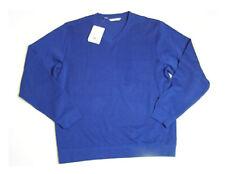 Cutter & Buck Mens Long Sleeve V Neck Pullover Sweater Tour Blue