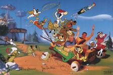40 YEARS CARTOONS PRINT Bill Hanna Joe Barbera & Gang