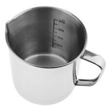 Laboratory Kitchen Test Measuring Beaker Jug Cup Stainless Steel 500/1000ml