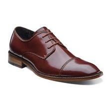 Men's Stacy Adams Dress Shoes BRAYDEN 24972 Cognac Cap Toe Oxfords Leather