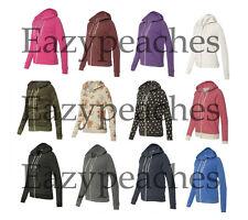 Alternative Apparel Ladies S-XL Eco Fleece Adrian Zip Hooded Sweatshirt Hoodie