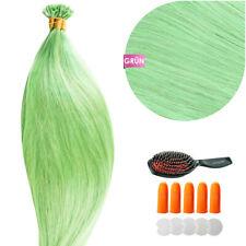 Keratin Bonding (# Gruen) Hair Extensions 100% Remy Echthaar Haarverlängerung