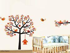 Wall Sticker Tree Blossom Bird Easter Flower Bird House Kids Childrens Art Decal