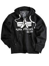 Alpha Industries Kapuzenjacke Big A Classic Zip Hoody Schwarz #5230