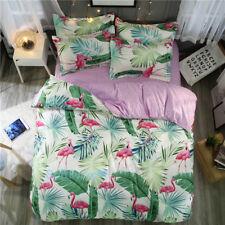 Single/Double/Queen/King Size Bed Quilt/Doona/Duvet Cover Pillow Case Flamingo