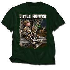 BUCK WEAR HUNTING SHIRT - LITTLE HUNTER YOUTH BOYS T-SHIRT, HUNTING KIDS