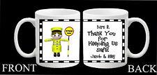 Personalised Mug School Lollipop Lady Man Crossing Teacher Thank you Gift