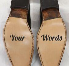 Bride Groom Shoe Stickers Decals | Adhesive Wedding Decoration Funny Vinyl