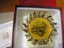 Great Vintage Hummel Gold Christmas Ornament -Allelujia.Sale