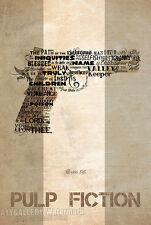 "Pulp Fiction (Ezekiel 25:17 Tattoo Gun Quote) Movie Poster (24""x36"", 13""x19"")"