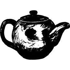 Teapot Rubber Stamp Miniature Wm P12
