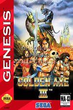 RGC Huge Poster - Golden Axe III Sega Genesis BOX ART - SEG006